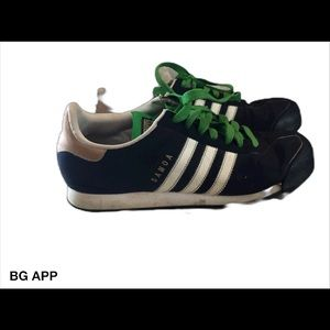 Men's size 10 1/2 Adidas navy and white shoes